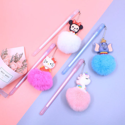 Kawaii  Japanese  Korean Cute Rabbit Hair Ball Pendant Gel Learning