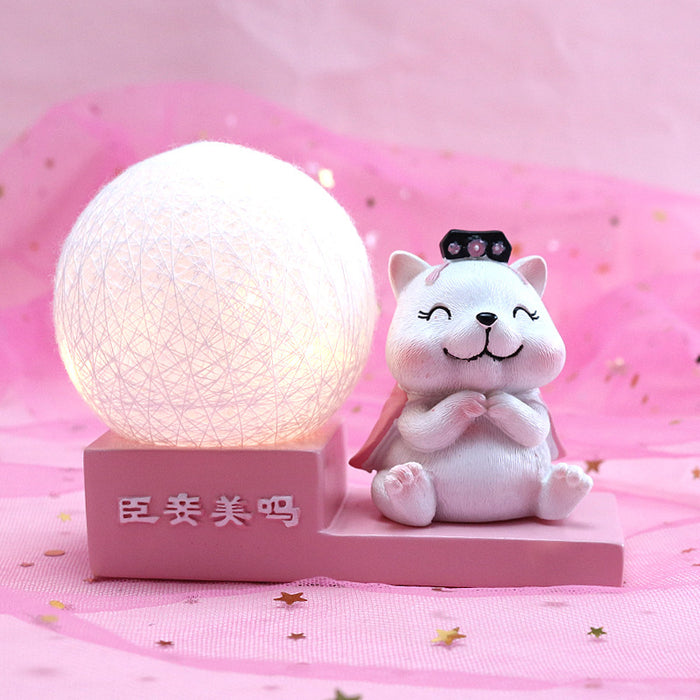 Kawaii  Japanese  Korean -Palace wind series line ball piggy bank wind cat lamp birthday gift for girlfriends girls