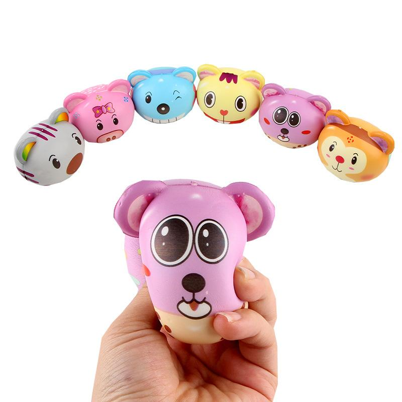 Silly Squishy - Slow bounce pu color printing simulation animal Squishy