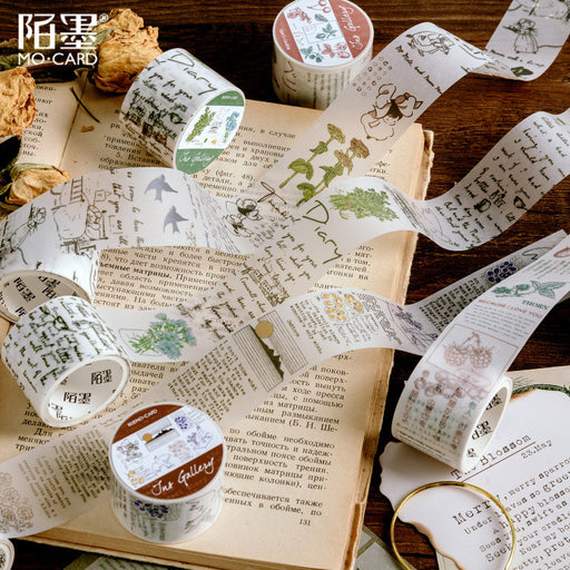 Sulfate Paper Tape Inspiration Gallery Series Hand Account Salt Retro Plant Release Decorative Stickers
