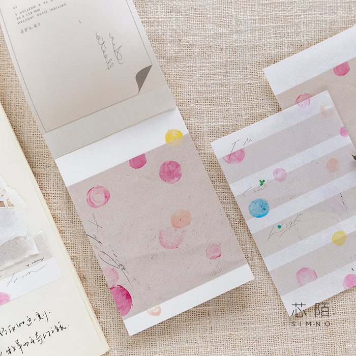 Kawaii Korean Japanese Xinmo Natural White Primer  Memo Sticky Note