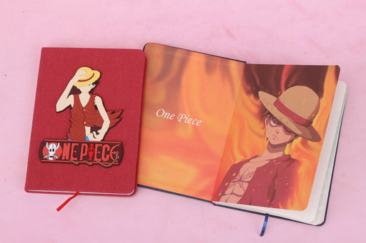 One Piece Luffy Creative Stationery Diary Student Gift Notepad Boutique Set Pen Notebook Journal