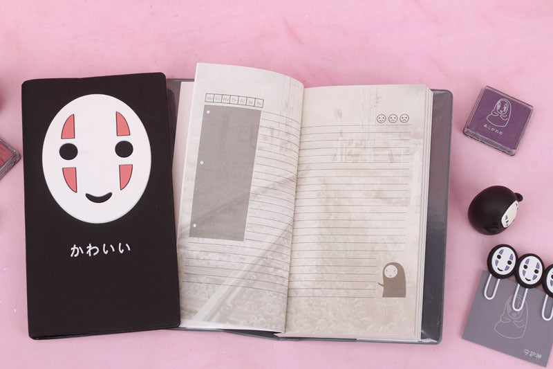Diary Faceless Male Notebook Cartoon Notepad Student Stationery School Supplies Gift Notebook Journal