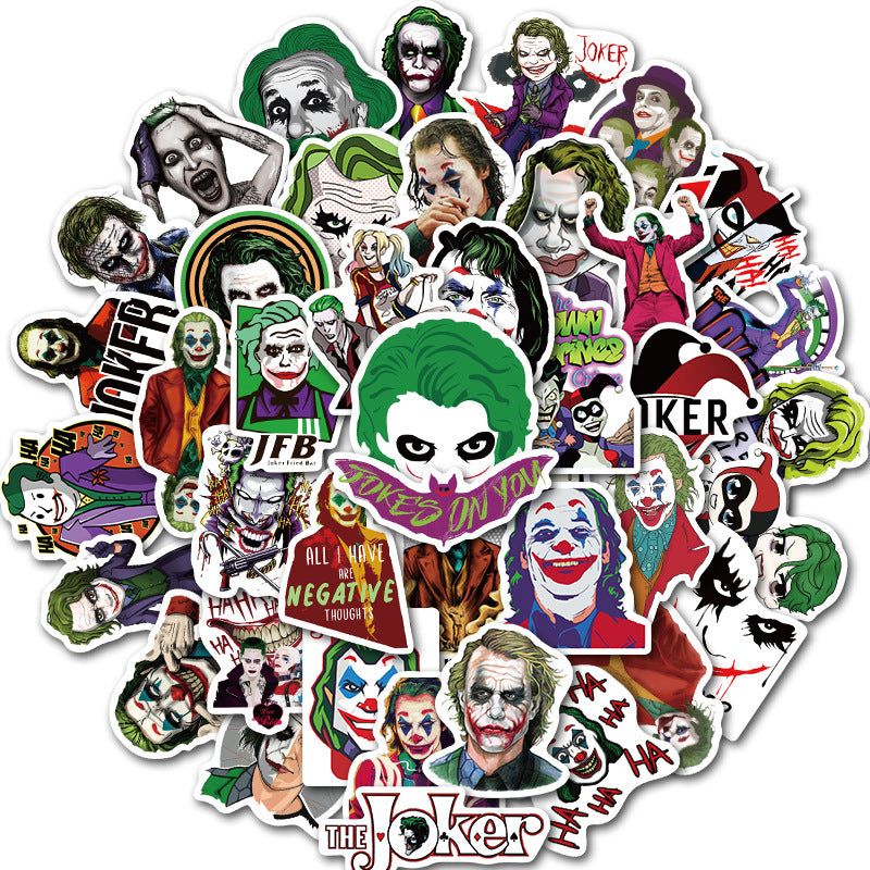 2019 movie clowns The Joker luggage trolley trolley waterproof waterproof graffiti stickers