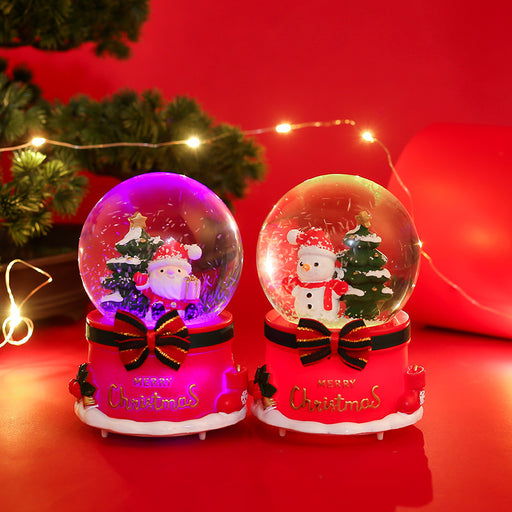 Kawaii  Japanese  Korean- Christmas crystal ball music box snowflakes glowing santa snowman christmas tree christmas eve cute kawaii gifts