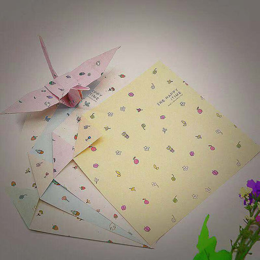 Kawaii Japanese Korean square double-sided starry sky wind flower thousand paper crane origami