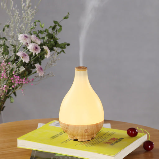 Aesthetic Yi Xuan  Wood Grain Aroma Diffuser Warm Light Ultrasonic Humidifier