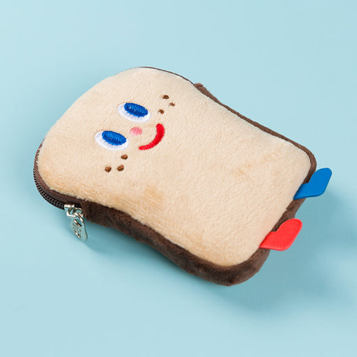 Kawaii Korean Japanese Milkjoy Toast Coin Purse Cute Soft Bread Man Bus Card Girl Heart Plush Wallet