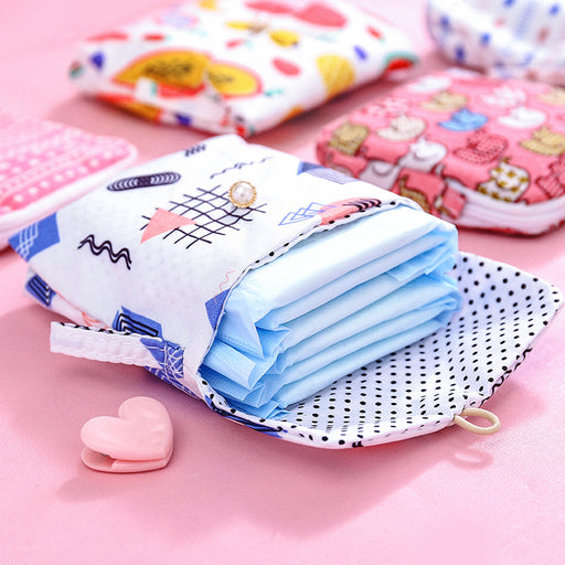Kawaii  Japanese  Korean Small fresh coin purse aunt towel storage bag