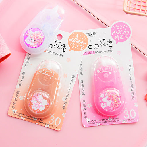 Kawaii  Japanese  Korean Sakura quicksand correction correction tape correction correction tape