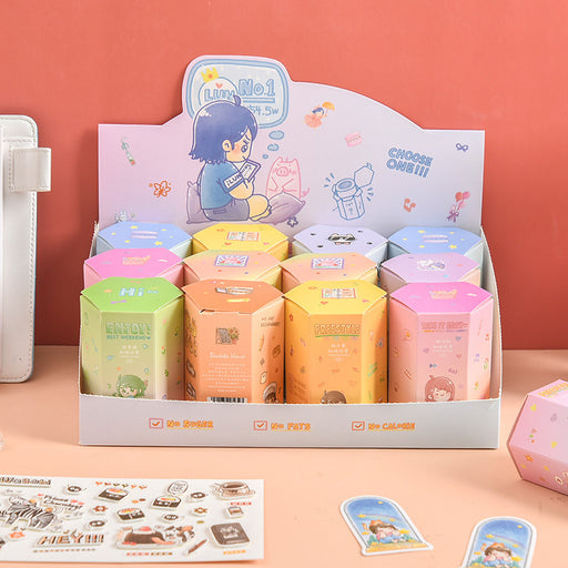 BentotoHouse and Paper Tape Guess Box Series The Second Bomb Creative DIY Decorative Stickers