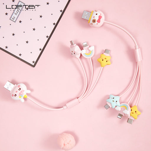 Kawaii  Japanese  Korean  - LOFTER IPhone three-in-one fast charging cable