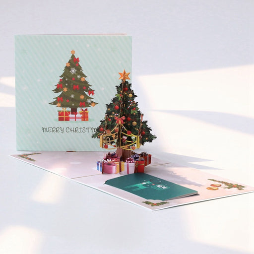 Kawaii Japanese Korean Color printing Christmas three-dimensional greeting card blessing thanksgiving film