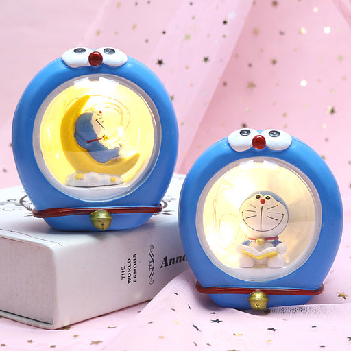 Kawaii  Japanese  Korean - Christmas glowing blue fat man night light cartoon Doraemon decoration gift