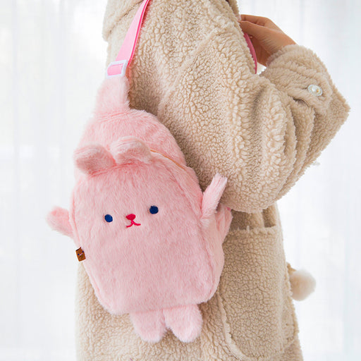 Kawaii Korean Japanese Milkjoy Plush Chest Girl Bear Harajuku Cute Shoulder Bag