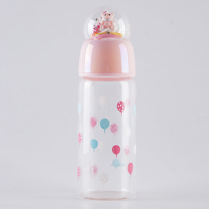Kawaii  Japanese  Korean  Fantasy Crystal Ball Glass Double-layer Cartoon Insulation Cup Water Cup