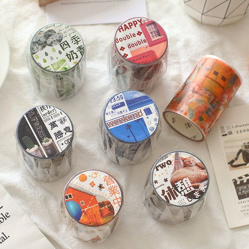 Kawaii Korean Japanese Girly  Wind And Rain  Washi Tape Set