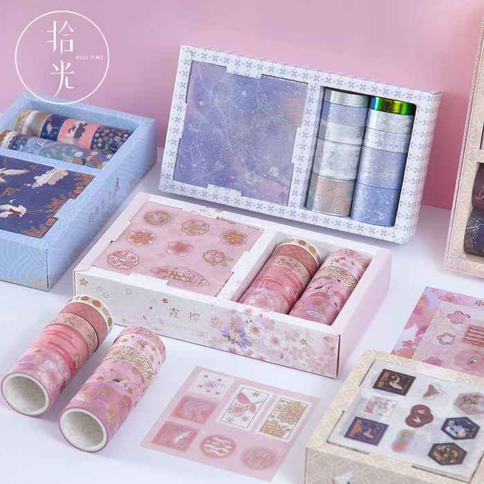 Kawaii Korean Japanese Girly  Starry Love Letter Washi Tape Set