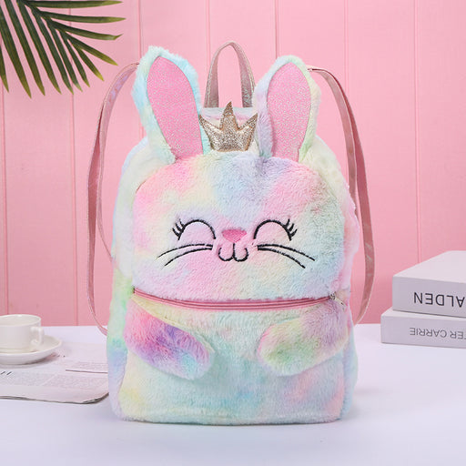 Kawaii  Japanese  Korean  Cute cartoon plush backpack backpack