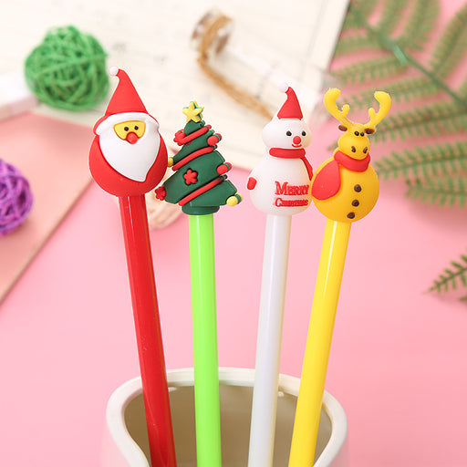 Kawaii Japanese Korean  Cartoon christmas gel pen cute pencil water-based pen christmas pen store
