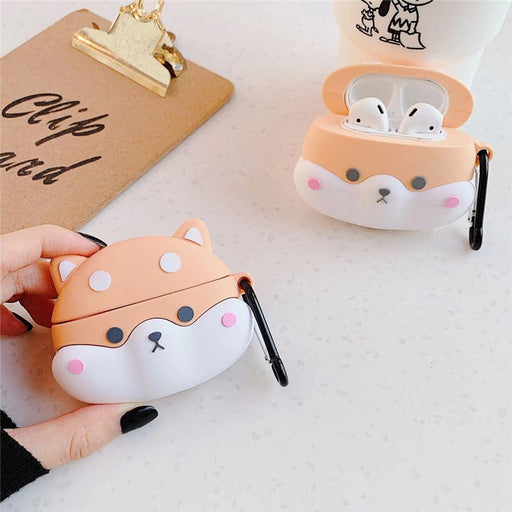 Aesthetic Cute Cartoon Shiba Inu Airpods Pro Cover