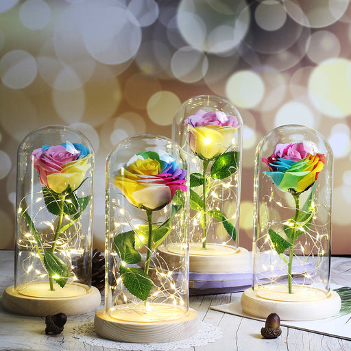 Kawaii  Japanese  Korean - graduation gift, girlfriend gift, give yourself Eternal flower glass cover gift
