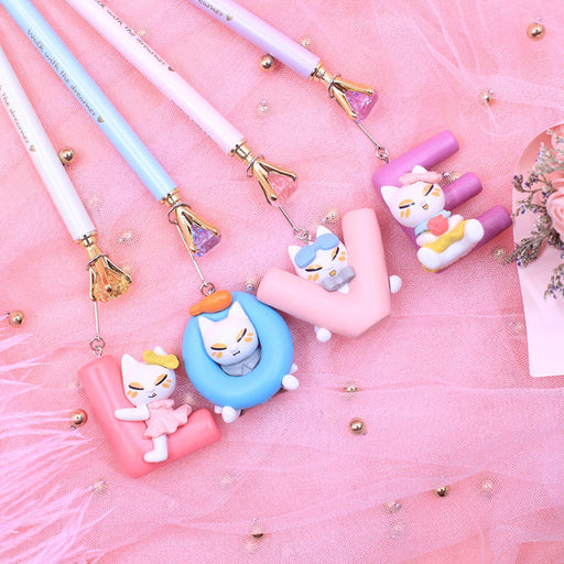 Kawaii  Japanese  Korean-LOVE cat pendant pendant mechanical pencil
