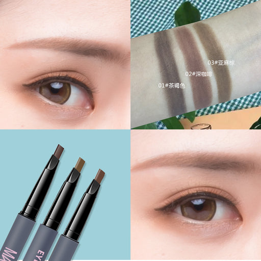 Kawaii  Japanese  Korean Non-marking long lasting natural twisting waterproof and sweat-proof double-headed eyebrow pencil