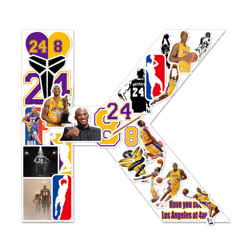 Hot Sale NBA Basketball Lakers No.24 Kobe Bryant Black Mamba Kobe Stickers