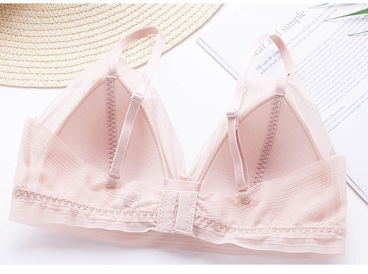 Details about  /Sexy No Steel Ring Rayon Absorb Sweat Triangle Cup Women Bra Girls Breathable