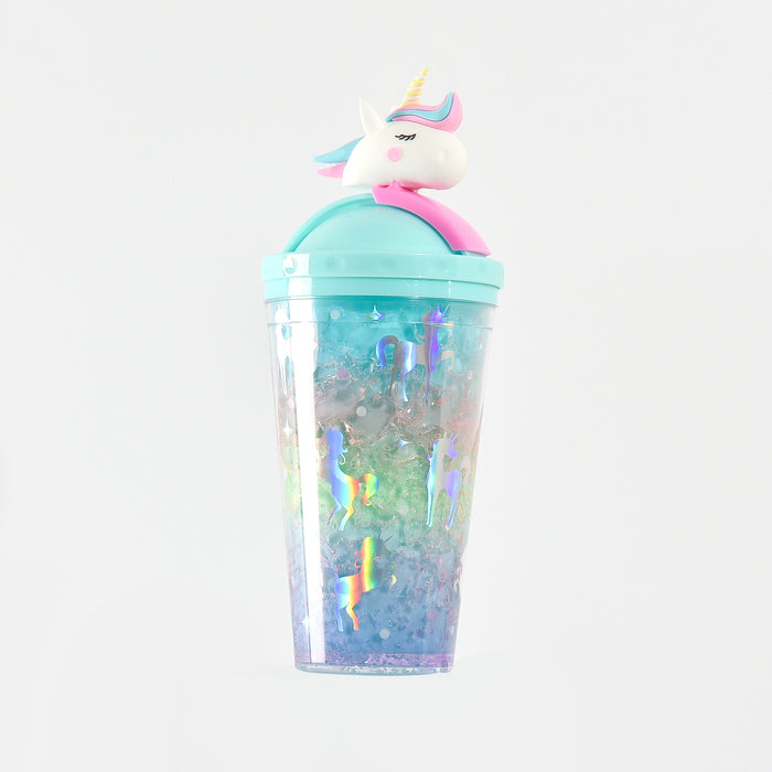 Kawaii  Japanese  Korean  Girl Unicorn Double Cup Drinking Straw