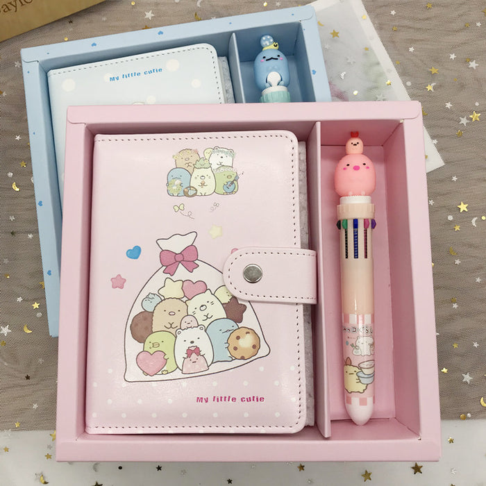 Corner bio A6 button notebook,Sumikko gurashi notebook