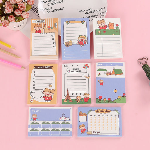 Traveler's Memo Sticky Note - Korean Kawaii Japanese Style