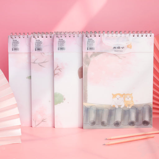 Kawaii Japanese Korean  A4 PP Cover Waterproof Art Blank Sketch Book