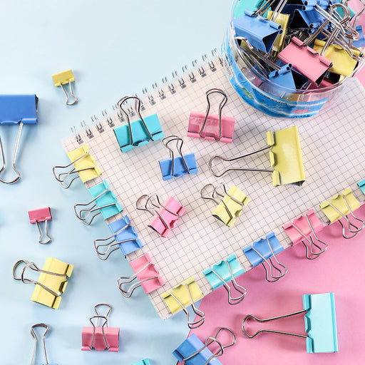 Kawaii Japanese Koreanins office stationery barrel color dovetail clip