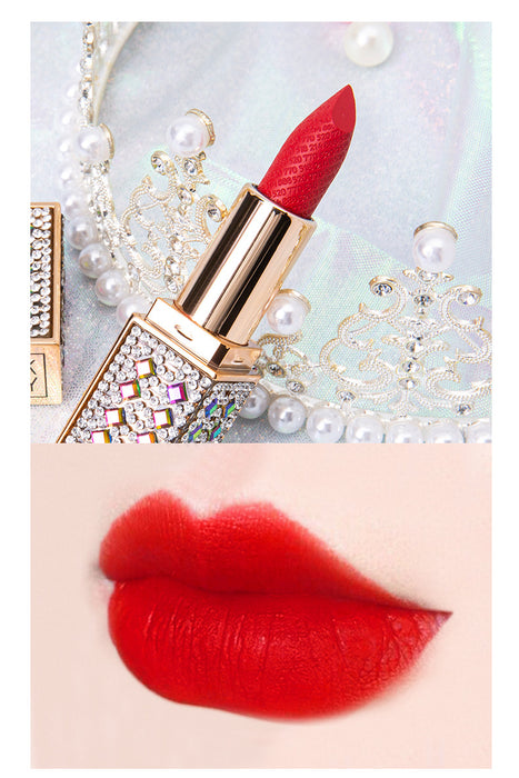 Kawaii  Japanese  Korean  Matte lipstick carved waterproof and moisturizing easy to color lipstick