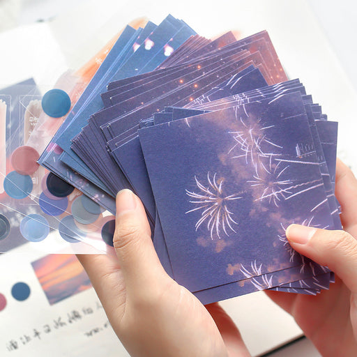 Mr. paper note set love and freedom series creative salt series landscape message student hand account decoration material