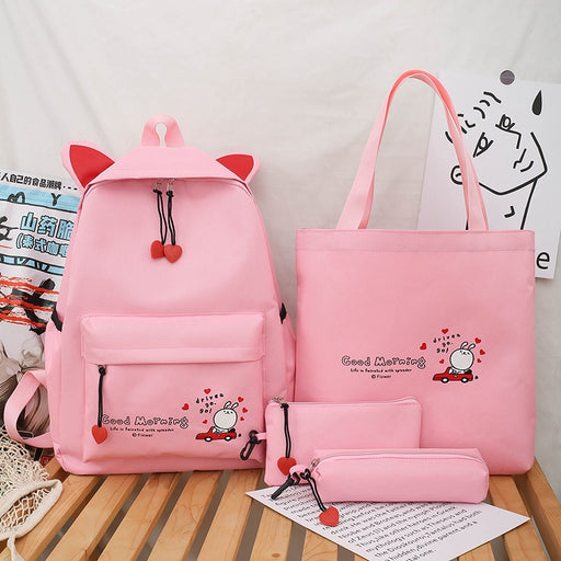 Kawaii  Japanese  Korean Pink Girlish Heart Bunny Backpack