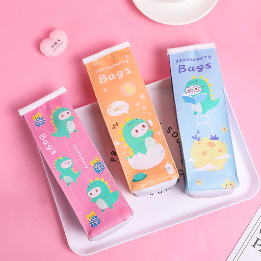 Kawaii  Japanese  Korean  Cartoon dinosaur milk case pencil case pencil case large pencil case