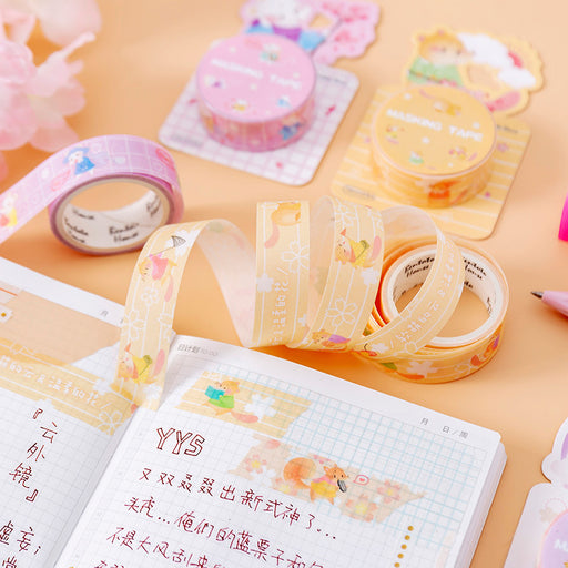 Kawaii Japanese Korean Sakura Mouse Paper Tape