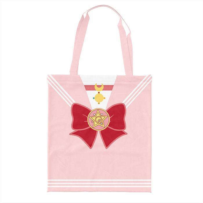Kawaii Japanese Korean two-dimensional navy style beautiful girl ins large-capacity shoulder bag green shopping bag tote bag canvas bag