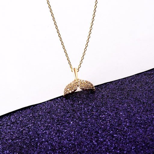 Kawaii Japanese Korean   Mermaid Tail Pendant Clavicle Necklace