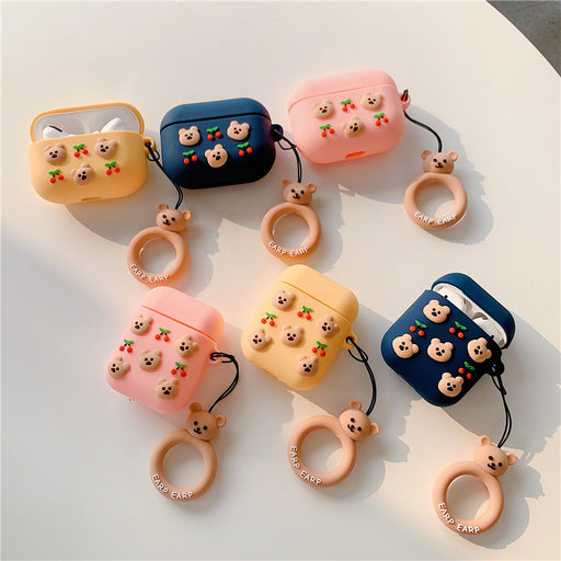 Aesthetic Korean Bear Earphone Protective Case