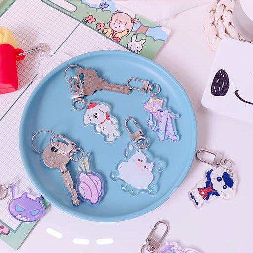 Kawaii  Japanese  and Korean Personalized creative bag cartoon keychain pendant