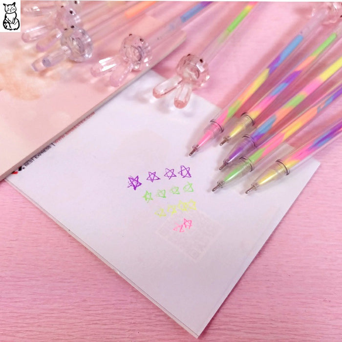 Kawaii  Japanese  Korean  Diamond color rabbit highlighter