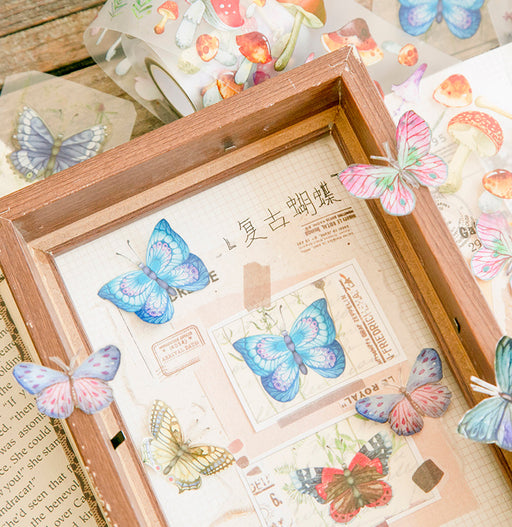 Kawaii Japanese Korean retro butterfly tape