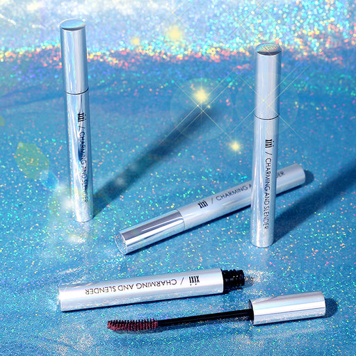 Kawaii  Japanese  Korean Makeup XIXI Glamour Slim Color Mascara/Long Curly Thick Waterproof Color Mascara
