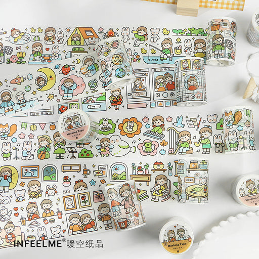 Kawaii Korean Japanese -Infeel.Me Washi Tape With You Series Tape Sticker