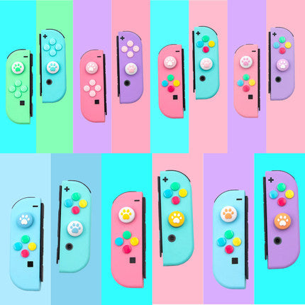 Kawaii  Japanese  Korean Cat Claw Joycon Switch Button Handle Rocker Cap
