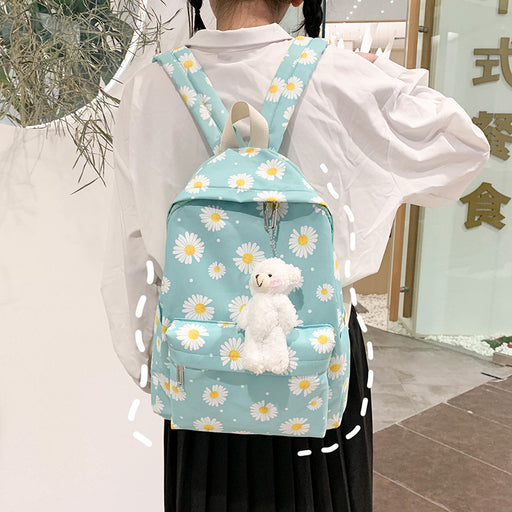 Kawaii  Japanese  Korean Small fresh flower wild forest ins backpack
